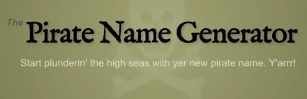 Pirate name generator