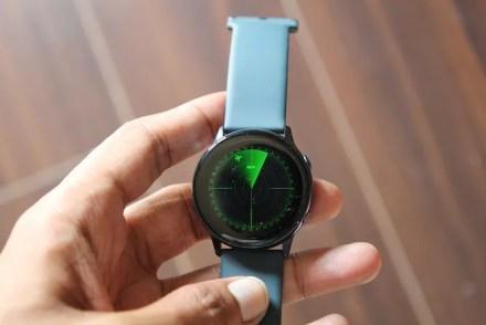 Radar watch face on Galaxy watch
