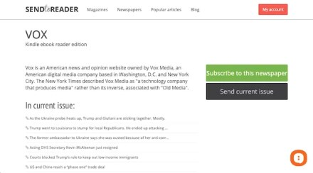Connect RSS feeds to Kindle with SendtoReader