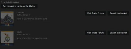 Steam cards to collect