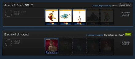 Badges page on Steam