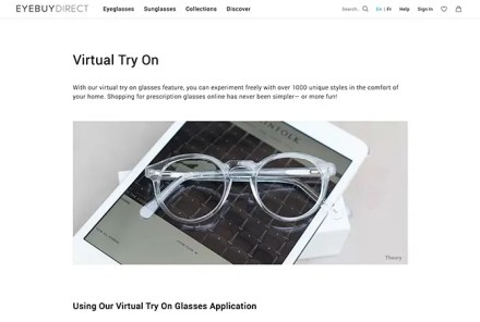 EyeBuyDirect Virtual Try On
