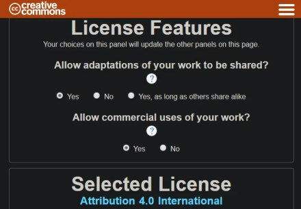 CC License Picker