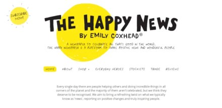 The Happy News positive newspaper website