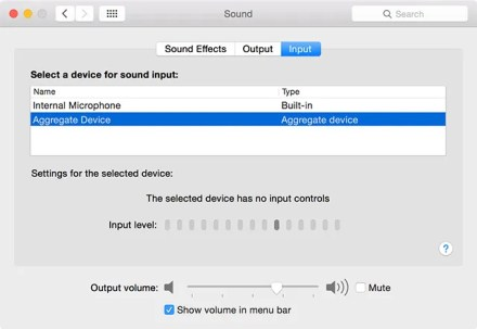 Mac choose the right input audio device