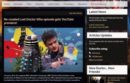 Official Doctor Who site