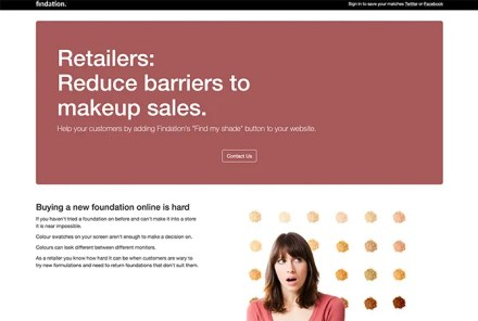 Use Findation for Retail Makeup Sales