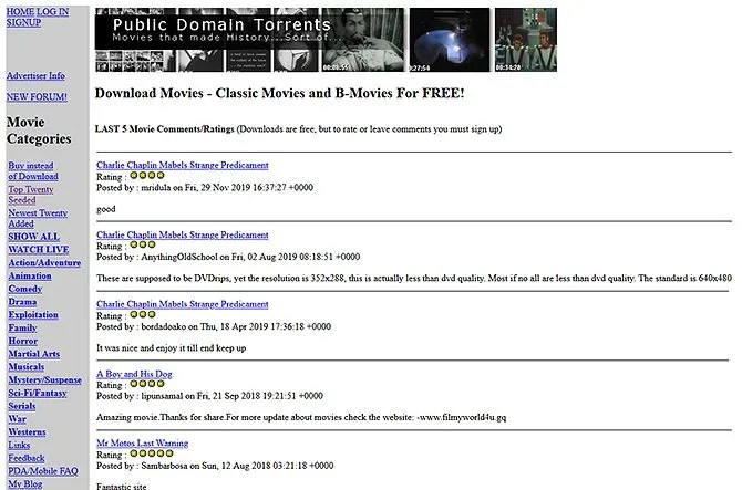 legal torrents - public domain torrents