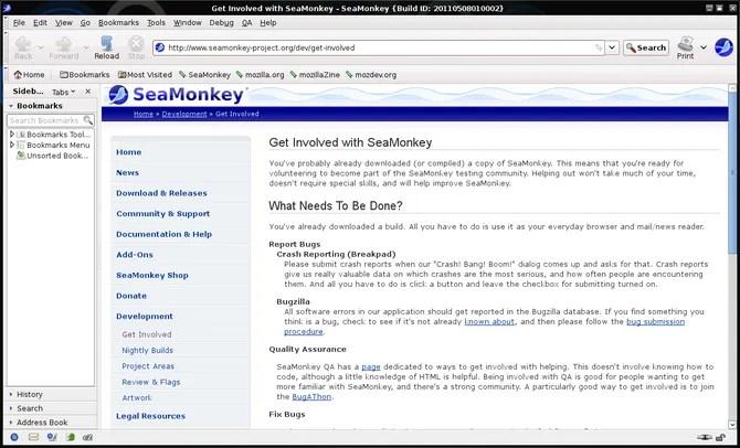 SeaMonkey в Linux