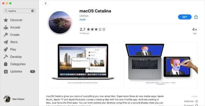 macOS Catalina in the Mac App Store
