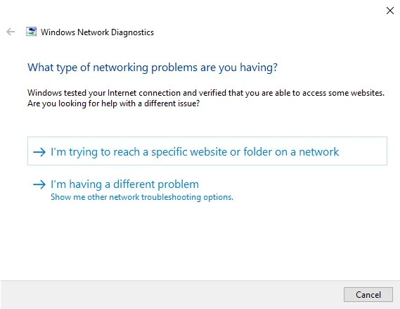 "Fix the Windows 10 ""No internet, secured"" error with the network troubeshooter - The Internet Tips"