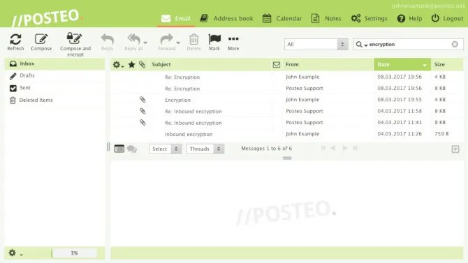 Posteo secure email