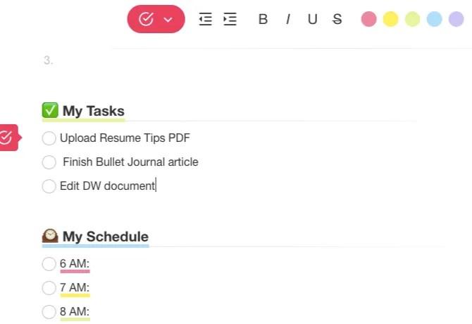 Шаблон Taskade Bullet Journal