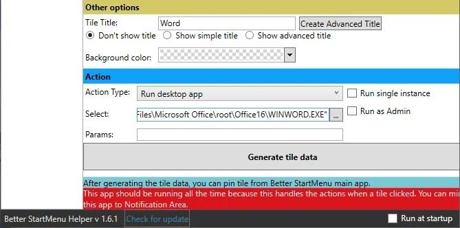 Windows 10 Custom Live плитки лучше действия для начала меню