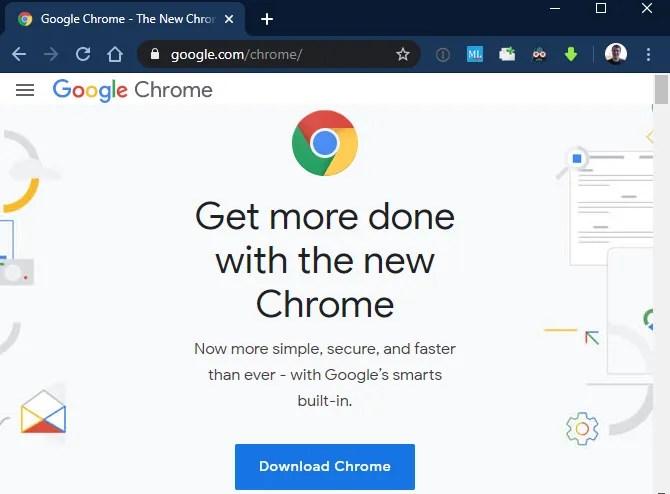 Скачать страницу Chrome