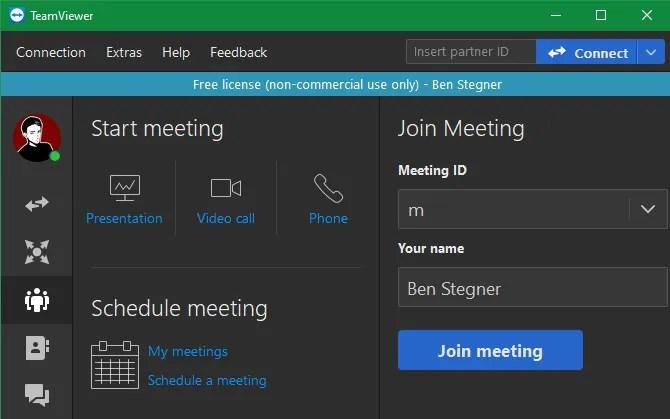 Встреча TeamViewer