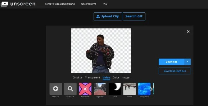 Unscreen's smart AI removes backgrounds from GIFs and videos