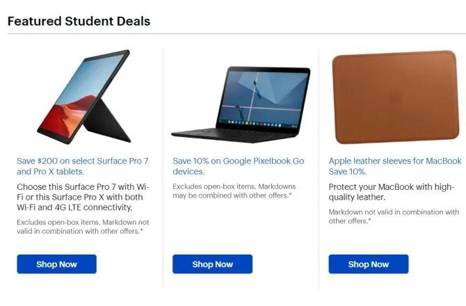 أفضل الخصومات على شراء الطلاب لأجهزة الكمبيوتر المحمولة