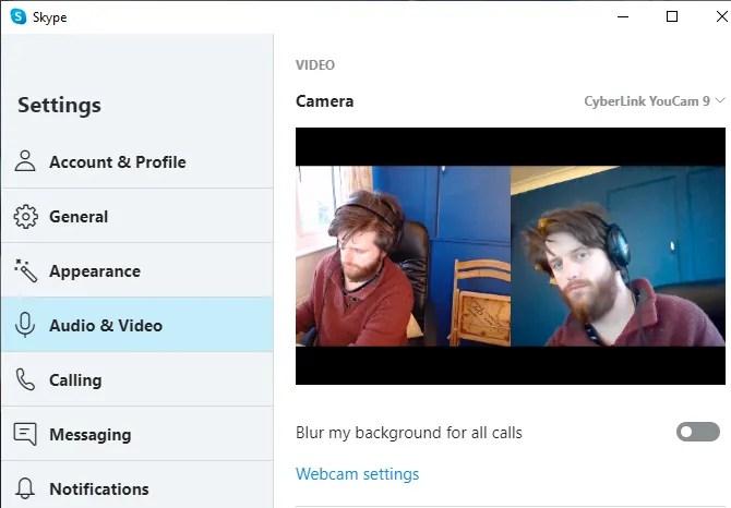 настройки скайпа youcam 9