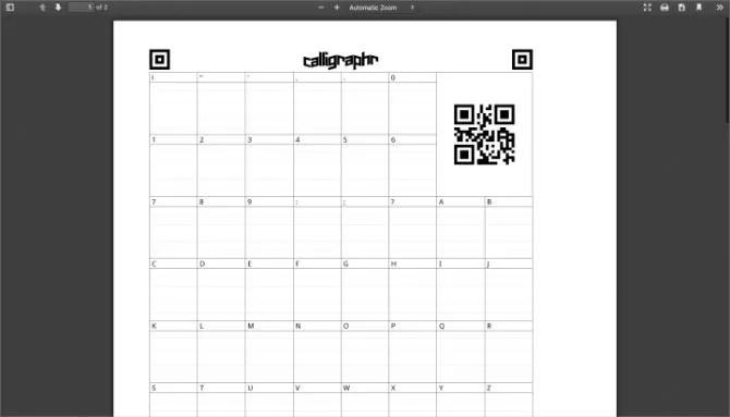 Каллиграфический шаблон PDF