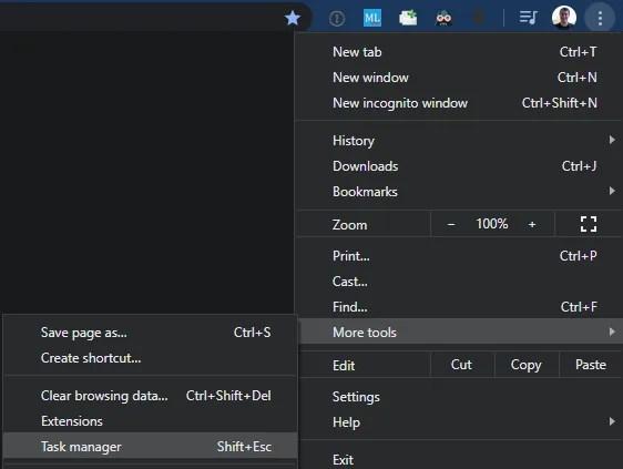 Chrome Open Task Manager