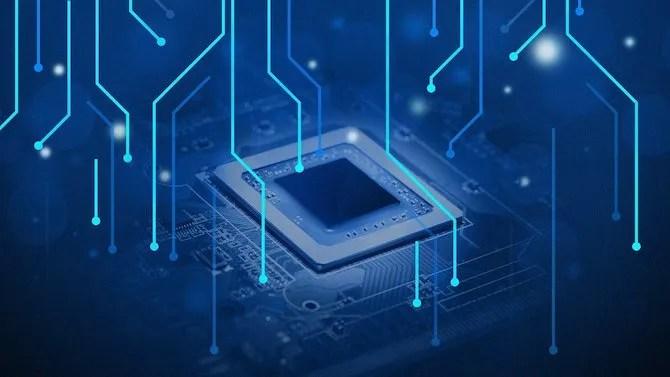 Иллюстрация компьютерного процессора