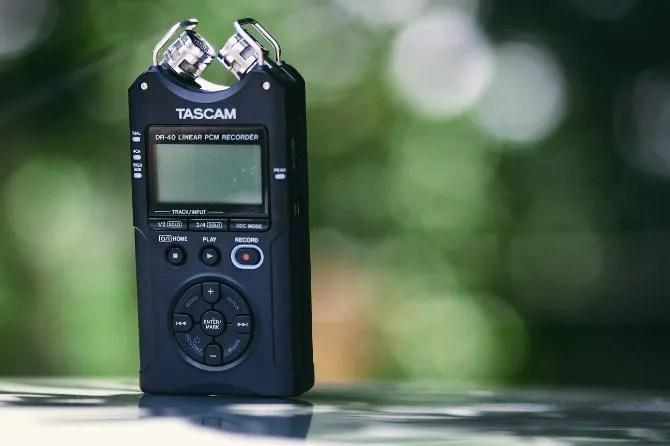 Grabadora de voz Tascam dictáfono