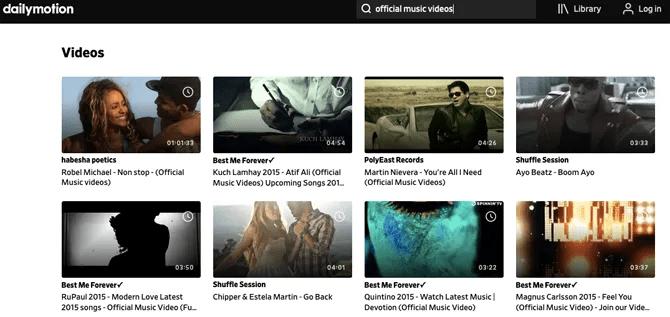 примеры музыкальных клипов dailymotion
