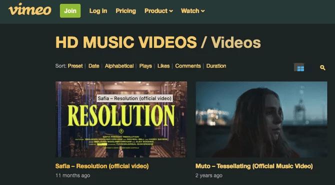 канал HD Vimeo