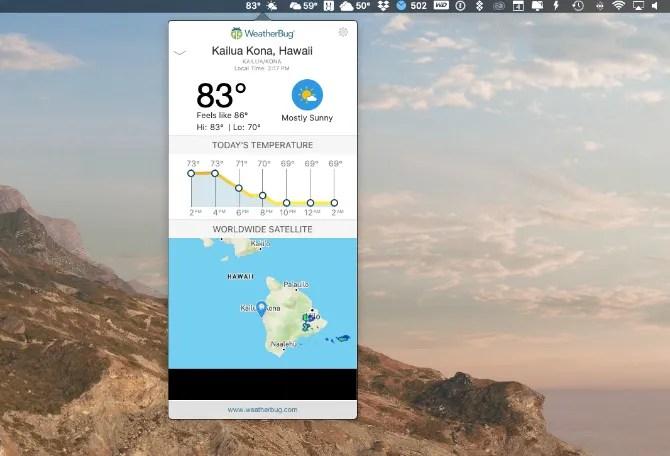 WeatherBug Mac