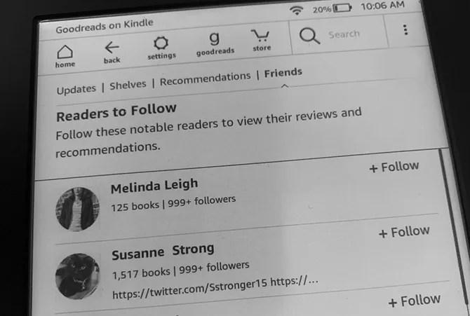 Как я могу использовать Goodreads на Kindle