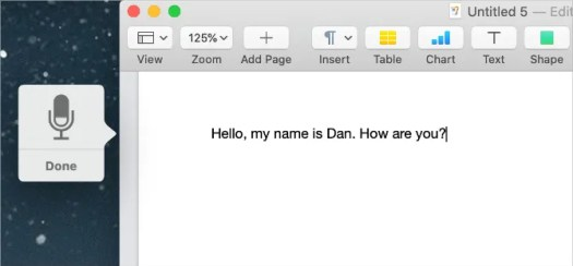 Dictation on a Mac with punctuation