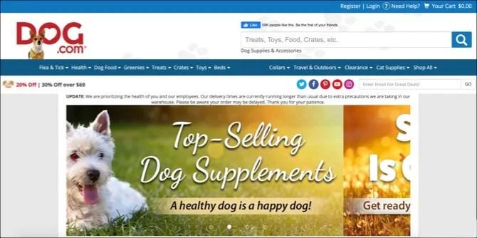 Página principal de Dog.com
