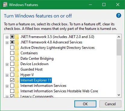Enable IE 11