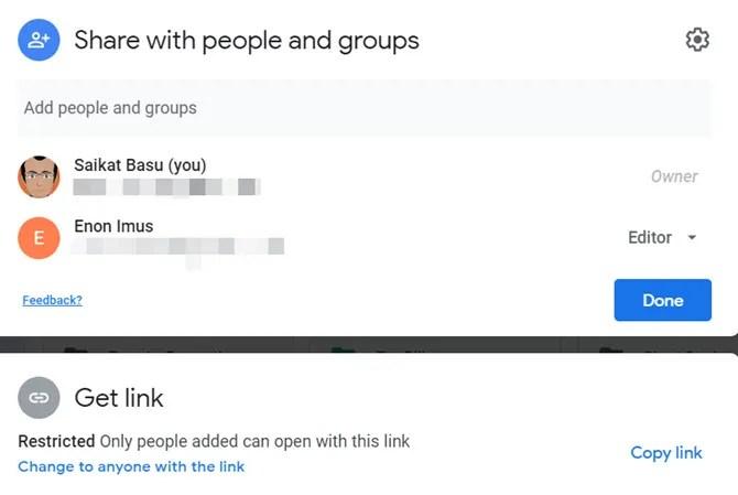 Общая папка на Google Диске