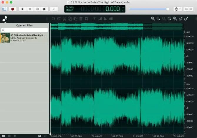 Ocenaudio аудио редактор