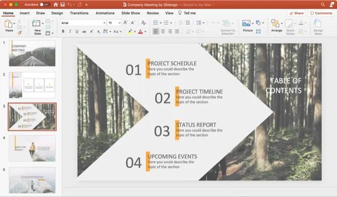 Шаблон презентации компании PowerPoint Slidesgo