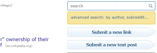 The search bar on the old Reddit design