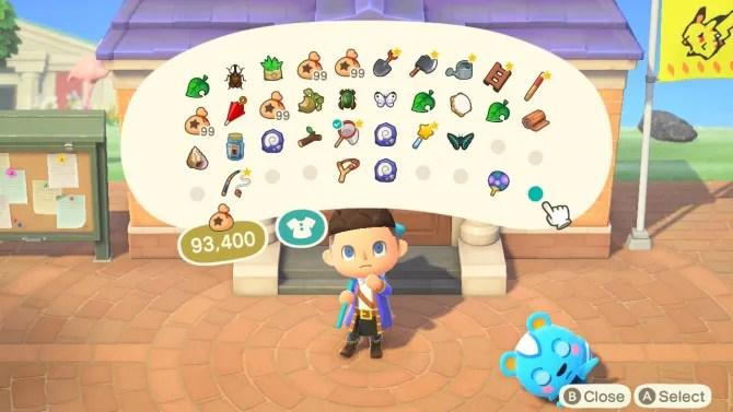 Animal Crossing: инвентарь новых горизонтов