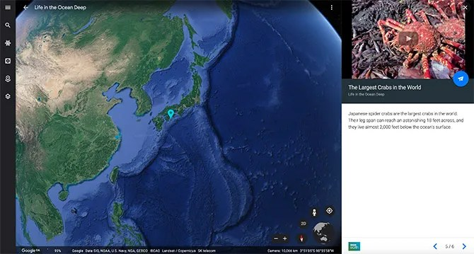 Google Maps Deep Ocean