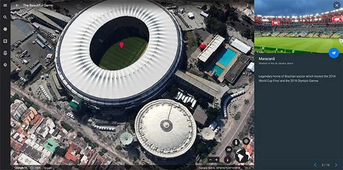 Google Maps Виртуальный тур по красивой игре
