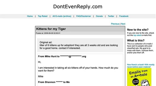 Funny Blogs to Read Don't Even Reply