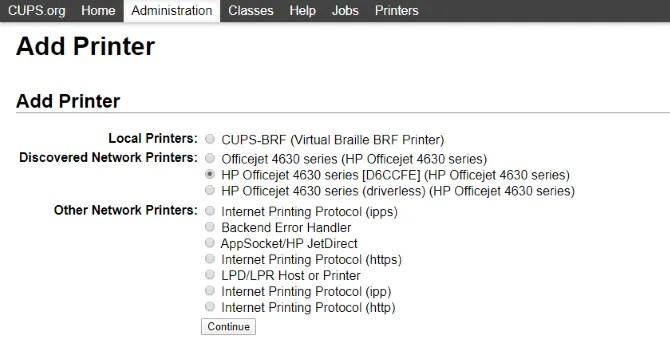 Настроить сервер беспроводной печати Raspberry Pi