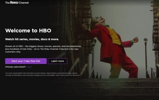HBO Free Trial Roku Channel