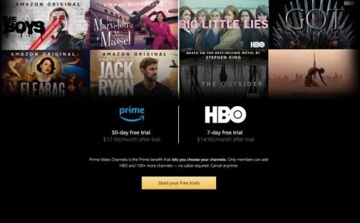 Amazon Prime HBO Free Trial