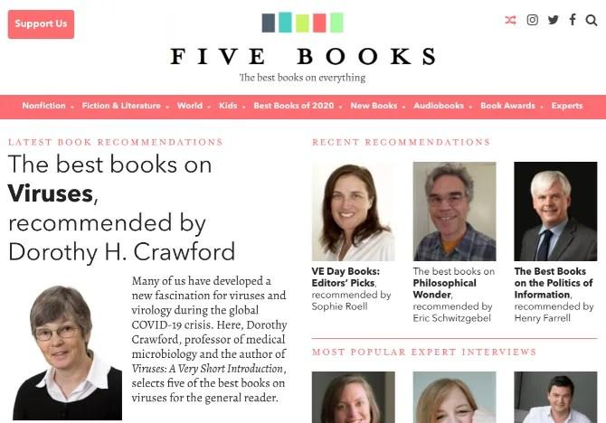 Эксперты по теме рекомендуют пять книг на эту тему в подробных интервью в Five Books