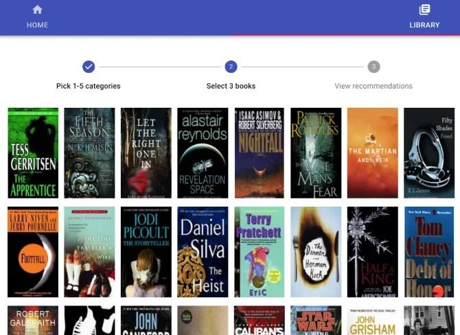 Next Book To Read - это простое трехступенчатое приложение для поиска книг на ваш вкус