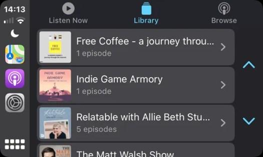 CarPlay Podcasts