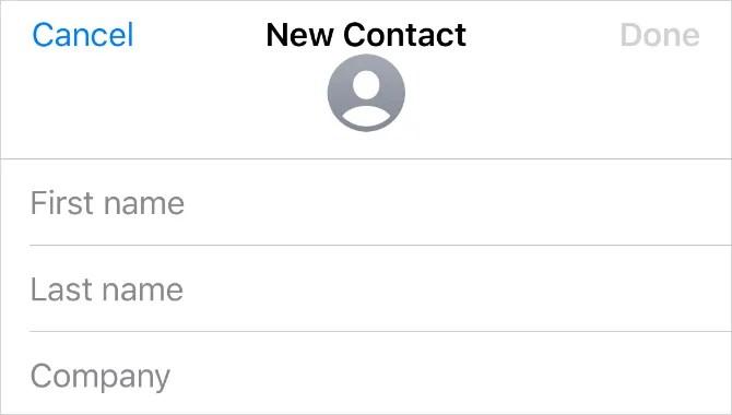 Новая страница контактов на iPhone