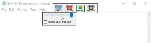 The WindowTop menu